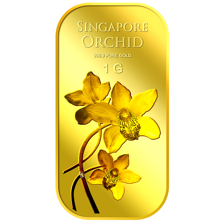 1g SG Orchid (Series 2) Gold Bar
