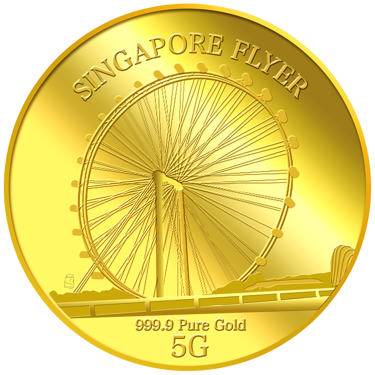 5g SG Flyer Gold Medallion